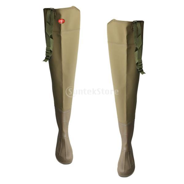 3層 PVC シューズ フィッシングブーツ 作業靴 ブーツ 釣り 農業 防水 滑り止め 耐久性 泥沼 池 4色6サイズ   - 褐色, 43 stk-shop 14