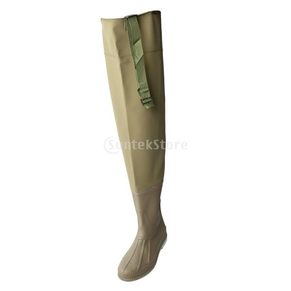 3層 PVC シューズ フィッシングブーツ 作業靴 ブーツ 釣り 農業 防水 滑り止め 耐久性 泥沼 池 4色6サイズ   - 褐色, 43 stk-shop 03