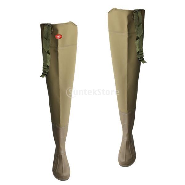 3層 PVC シューズ フィッシングブーツ 作業靴 ブーツ 釣り 農業 防水 滑り止め 耐久性 泥沼 池 4色6サイズ   - 褐色, 43 stk-shop 04