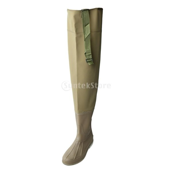 3層 PVC シューズ フィッシングブーツ 作業靴 ブーツ 釣り 農業 防水 滑り止め 耐久性 泥沼 池 4色6サイズ   - 褐色, 43 stk-shop 05