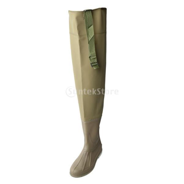 3層 PVC シューズ フィッシングブーツ 作業靴 ブーツ 釣り 農業 防水 滑り止め 耐久性 泥沼 池 4色6サイズ   - 褐色, 43 stk-shop 06