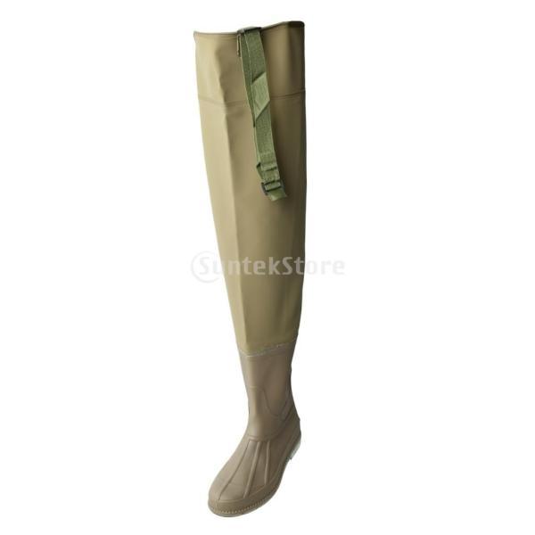 3層 PVC シューズ フィッシングブーツ 作業靴 ブーツ 釣り 農業 防水 滑り止め 耐久性 泥沼 池 4色6サイズ   - 褐色, 43 stk-shop 08