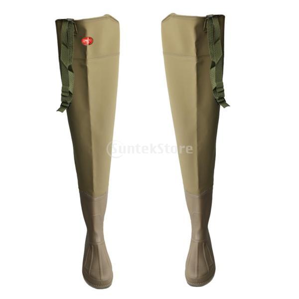 3層 PVC シューズ フィッシングブーツ 作業靴 ブーツ 釣り 農業 防水 滑り止め 耐久性 泥沼 池 4色6サイズ   - 褐色, 43 stk-shop 09