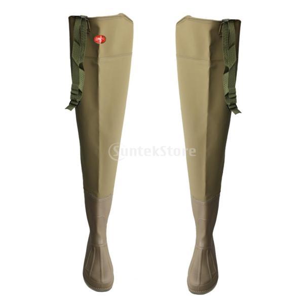 3層 PVC シューズ フィッシングブーツ 作業靴 ブーツ 釣り 農業 防水 滑り止め 耐久性 泥沼 池 4色6サイズ   - 褐色, 43 stk-shop 10