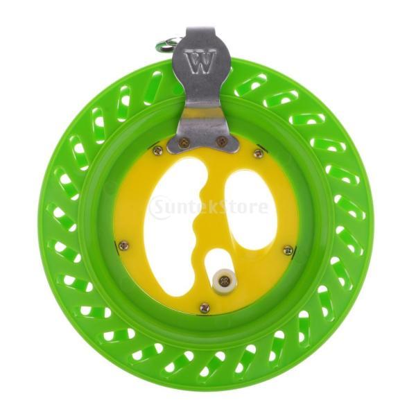 ワインダー リール 巻き取りホイール ライン 糸 釣り カイト ロック付き 大人用 子供 4色選ぶ - 黄緑