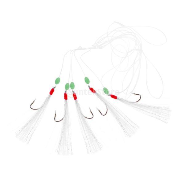 ルアー ベイト 釣りリグ 擬似エビ フック付き 生命のよう 発光ビーズ 5個 全3タイプ - #1|stk-shop|05