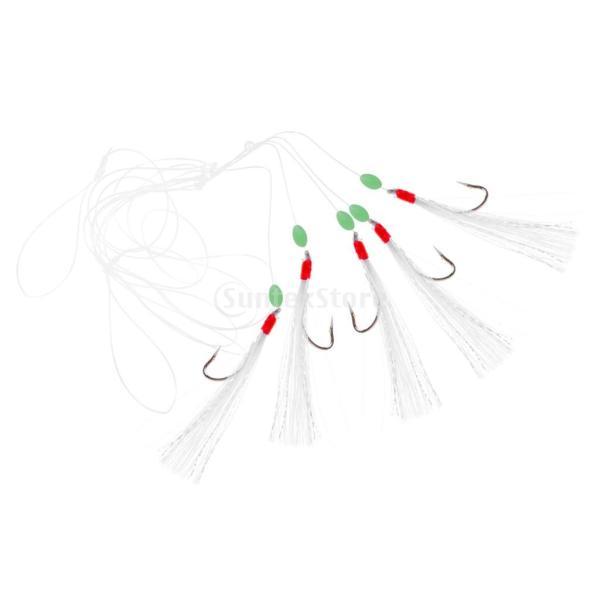 ルアー ベイト 釣りリグ 擬似エビ フック付き 生命のよう 発光ビーズ 5個 全3タイプ - #1|stk-shop|06