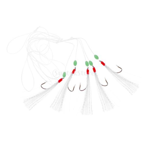 ルアー ベイト 釣りリグ 擬似エビ フック付き 生命のよう 発光ビーズ 5個 全3タイプ - #1|stk-shop|07