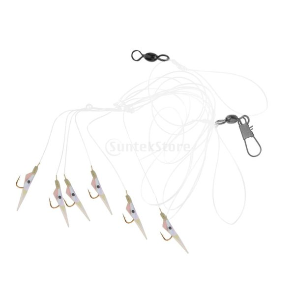 釣りリグ エビの形 人工餌 スイベル バレル ソフトベイト フック付き 全2タイプ  - #2 フック8 stk-shop 03