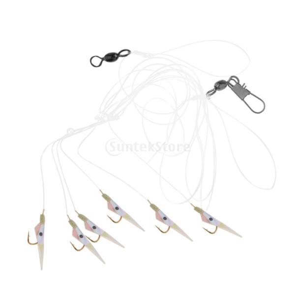 釣りリグ エビの形 人工餌 スイベル バレル ソフトベイト フック付き 全2タイプ  - #2 フック8 stk-shop 06