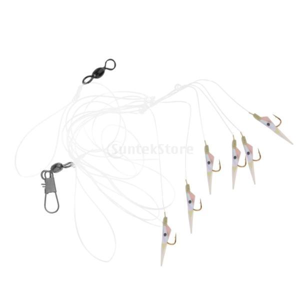 釣りリグ エビの形 人工餌 スイベル バレル ソフトベイト フック付き 全2タイプ  - #2 フック8 stk-shop 07