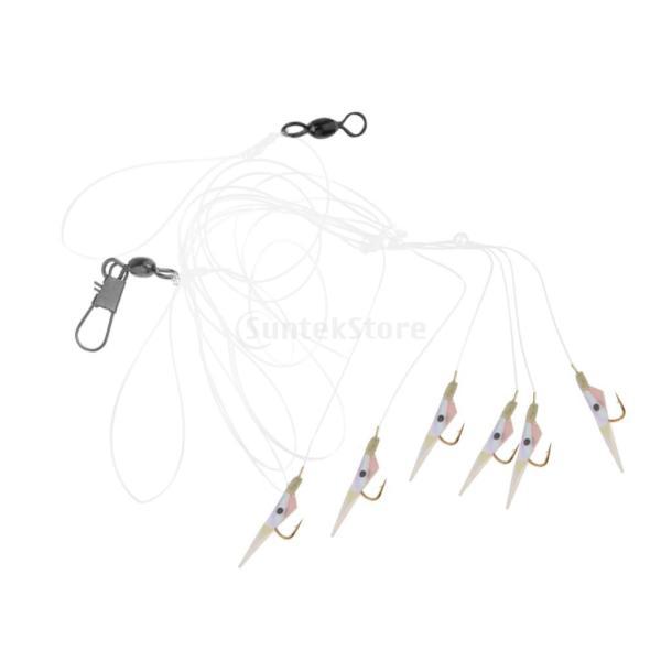 釣りリグ エビの形 人工餌 スイベル バレル ソフトベイト フック付き 全2タイプ  - #2 フック8 stk-shop 08