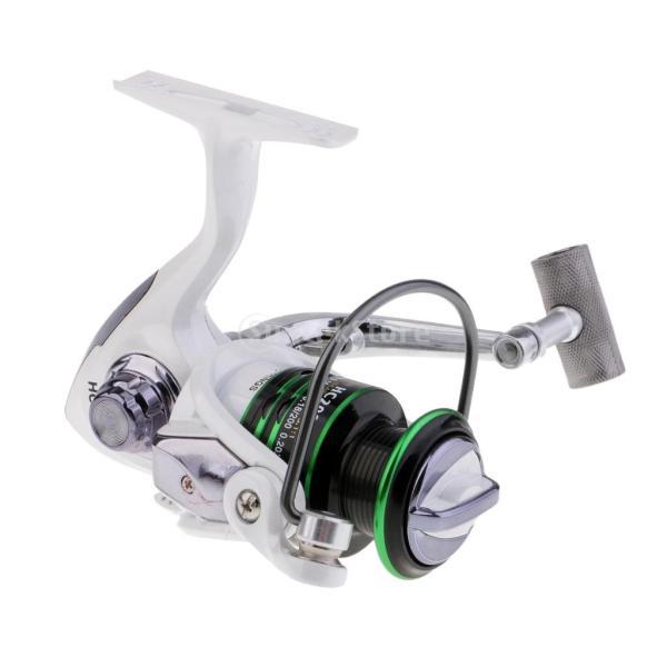 SunniMix 初心者用 スピニングリール 5.1:1 12 + 1Bb 魚釣り 強力ボディ 左右ハンドル交換 反逆転 大容量 全4サイズ - HC2000