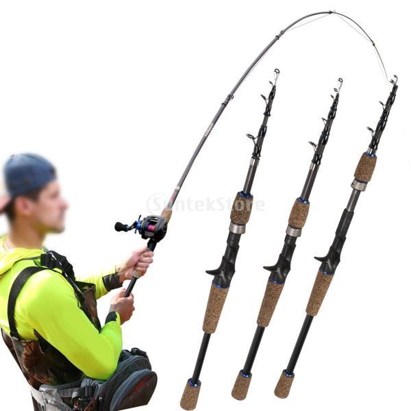 Baosity 伸縮釣竿 釣りロッド キャスティング ガイドリング 炭素繊維 超軽量 釣具 全3サイズ - 2.4m