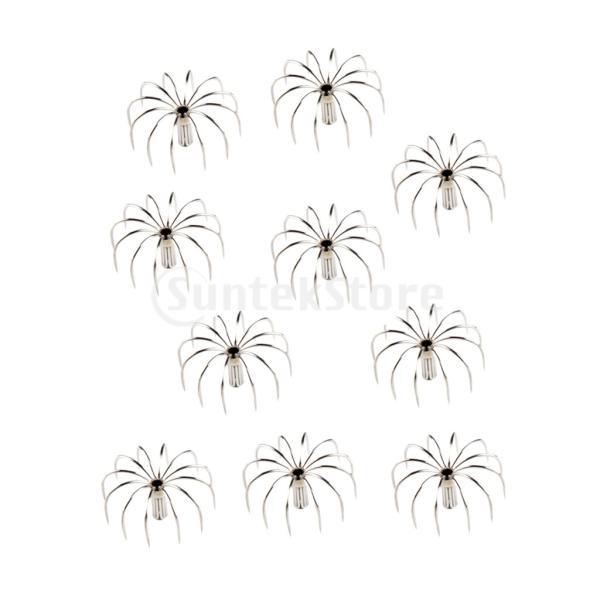 10ピースステンレス鋼イカジグフックタコフックシミュレーション餌4.5センチ|stk-shop|03