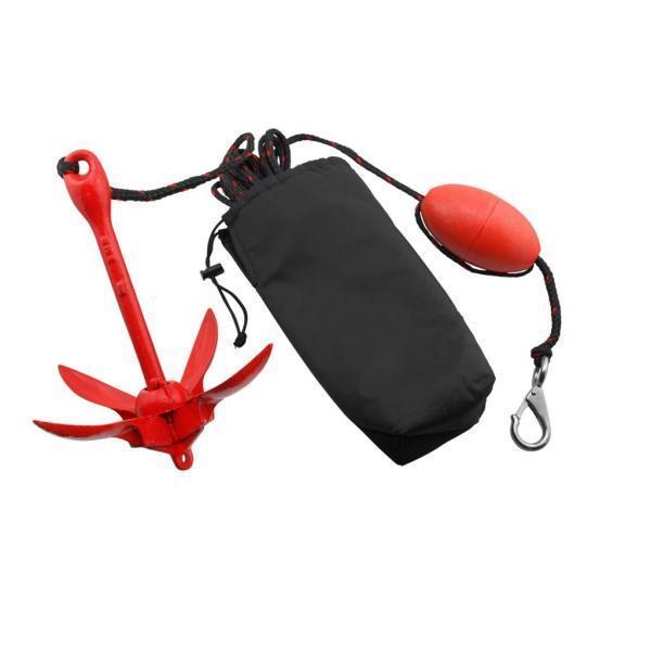 折りたたみアンカー ロープ ブイイボール ステンレス鋼 ボート カヤック カヌー 携帯便利
