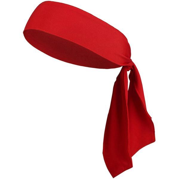 ヘッドバンド ヘアバンド スウェットバンド 汗止め 吸汗 バスケットボール バドミントン ハイキング用 全6色 - 赤