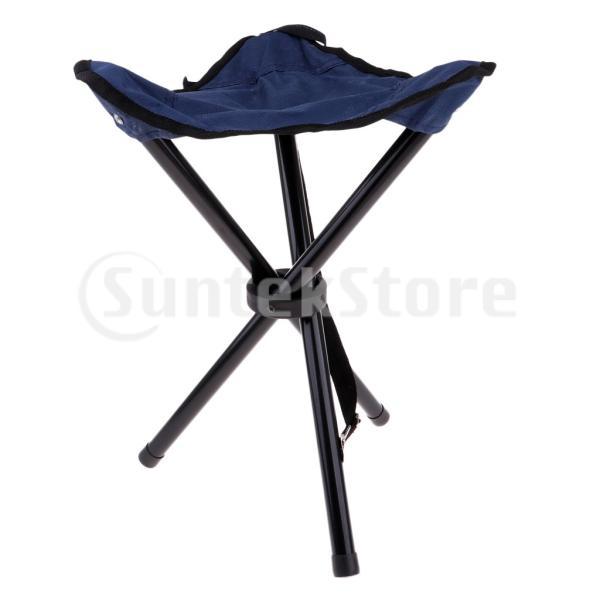 折りたたみ式三脚スツールポータブル超軽量釣りキャンプピクニックチェアシートは176Lbsをサポートできます
