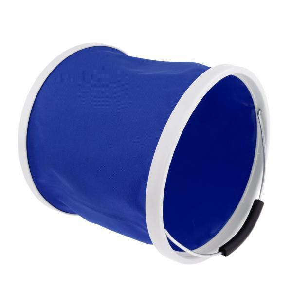 折りたたみバケツ水容器キャンプキャンプバーベキュー釣り11Lブルー