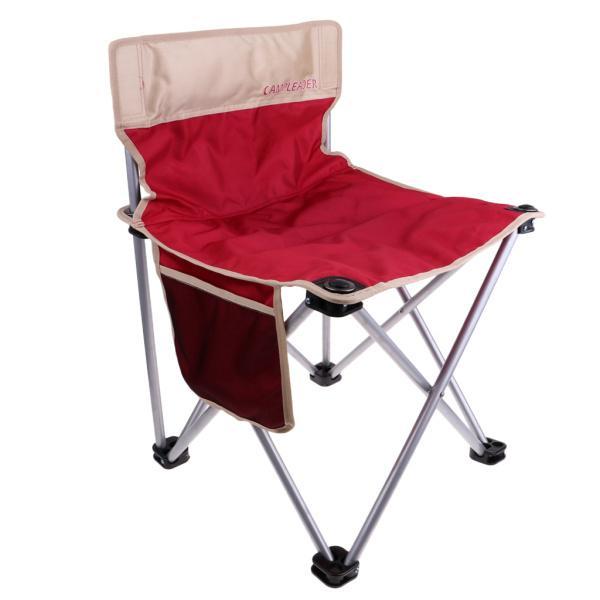 折りたたみキャンプクワッドチェア軽量ポータブルピクニック釣りシート赤