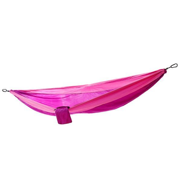 折りたたみ式ダブルキャンプ睡眠スイングハンモックハンギングベッド紫とピンク