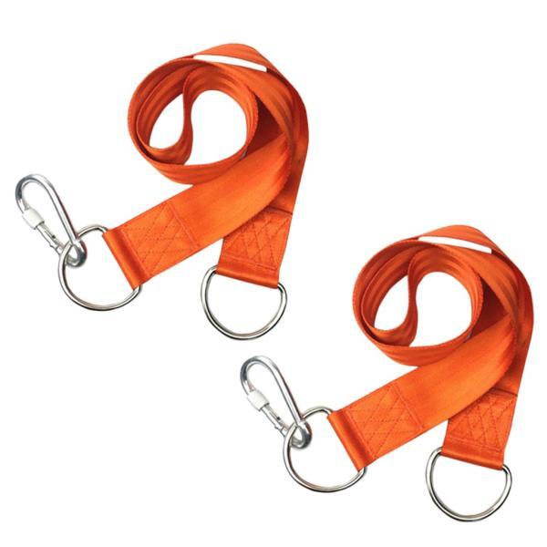 より安全なロックのスナップのホックのオレンジが付いている屋外のハンモック木の振動振動掛かる革紐