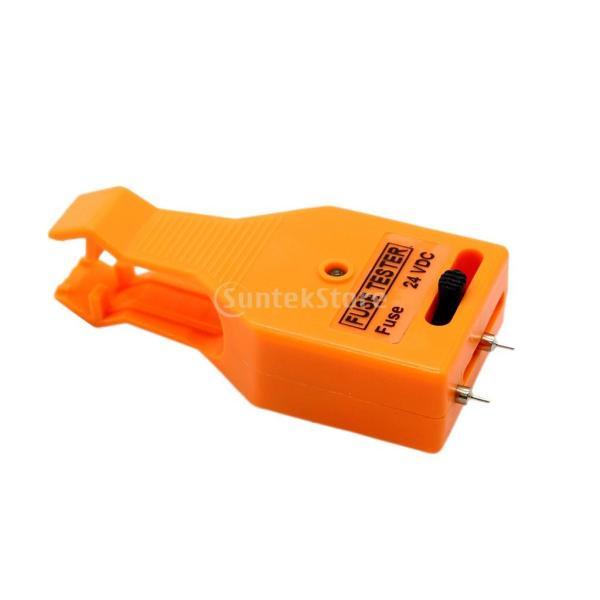 ヒューズテスター 24V DC LED表示 車用パーツ テスター 準自動車用ヒューズ 調整可能 品質保証
