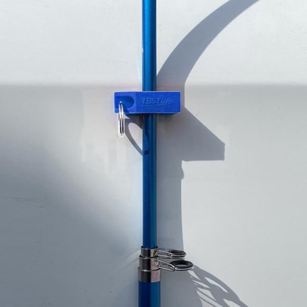 """磁気釣り竿クリップ保持穴サイズ1.9cm / 0.75 """"ブルーシート付き"""