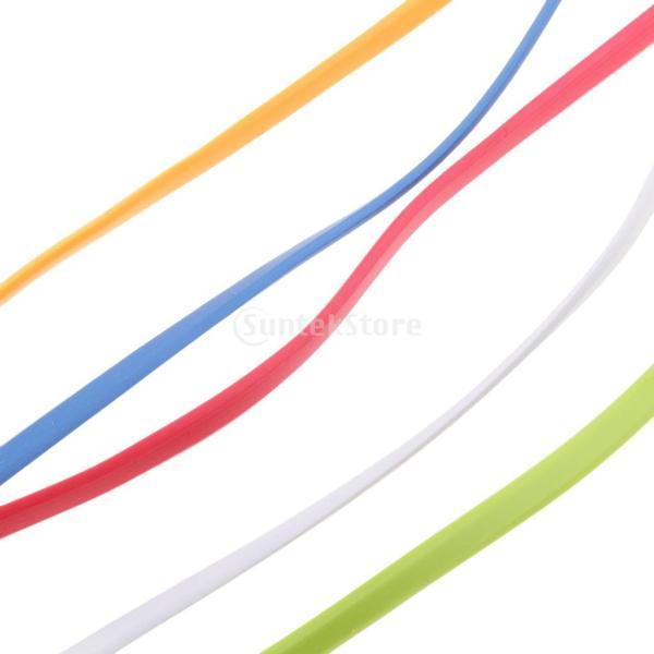 IPOTCH 3.5ミリメートル オス→オス AUX 補助 オーディオ フラット ヌードルケーブル 3フィート 耐久性 互換性