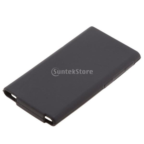 ニューアップル ipod Nano 第7世代 7Gカバーシェルに対応 TPU ゲル ケース 全7色 - 黒