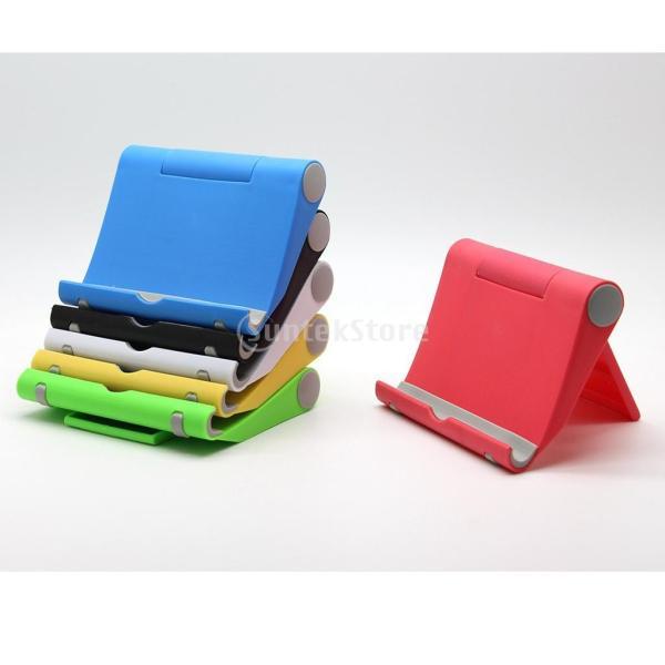 送料無料 iPad適用 タブレットスタンド 270度回転 卓上 スマホホルダー 折り畳み式 全5色 ユニバーサル|stk-shop|07