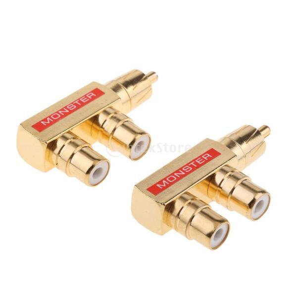 Perfk RACアダプター  コネクター 90度 直角 ユニークなグリップ 金メッキコネクター 耐腐食性
