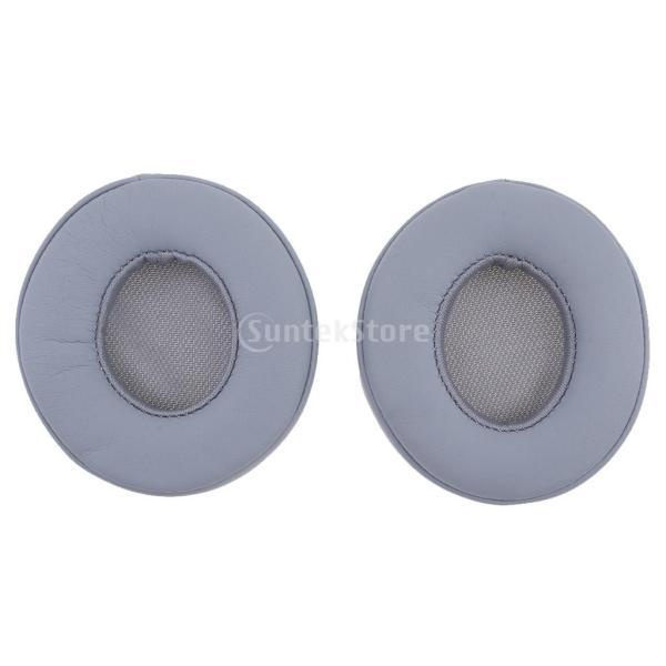 Fenteer 交換用 DIY 高品質 クッション 耳用泡パッド ビートSOLO2.0有線ヘッドフォンに対応 グレー