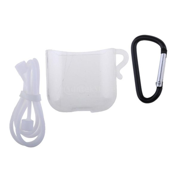 Perfk エアポッドヘッドフォン用 3IN1  TPUラバー 保護 スリーブ フックロープ 交換性 便利性