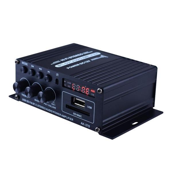 ミニオーディオパワーアンプampスピーカーデジタルbluetooth12vlcdディスプレイ.デュアルチャンネル