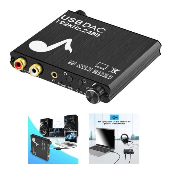 192のusb dacデジタルアナログコンバータためPS3 hd dvd.hd rca.サポートボリュームコントロールを調整