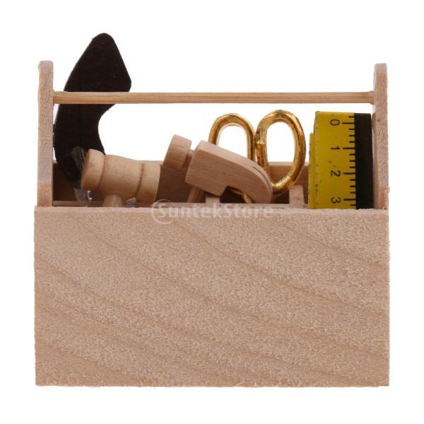 コレクション ツールボックス 1/12スケールドールハウス ミニチュア ツールモデル 家具