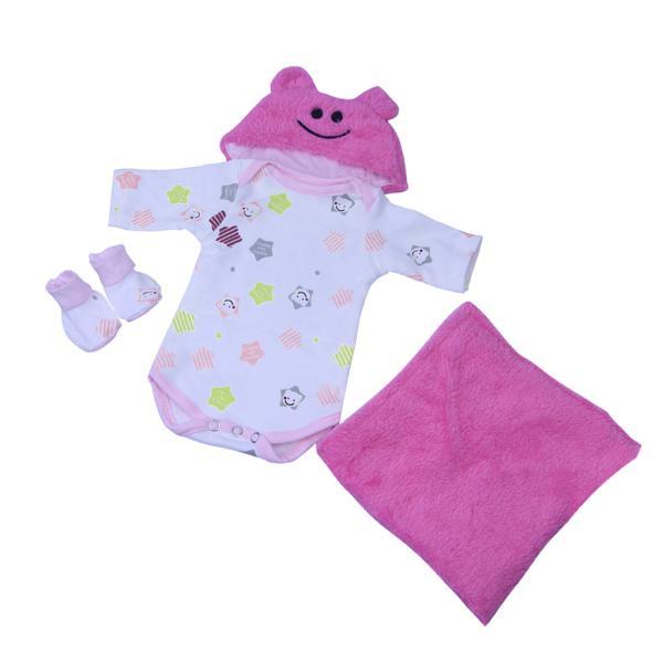 16‐18インチリボーンベビードール人形の服 ファッション ロンパース 帽子 毛布スーツ|stk-shop