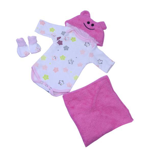 16‐18インチリボーンベビードール人形の服 ファッション ロンパース 帽子 毛布スーツ|stk-shop|02