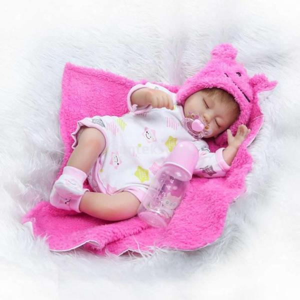 16‐18インチリボーンベビードール人形の服 ファッション ロンパース 帽子 毛布スーツ|stk-shop|11