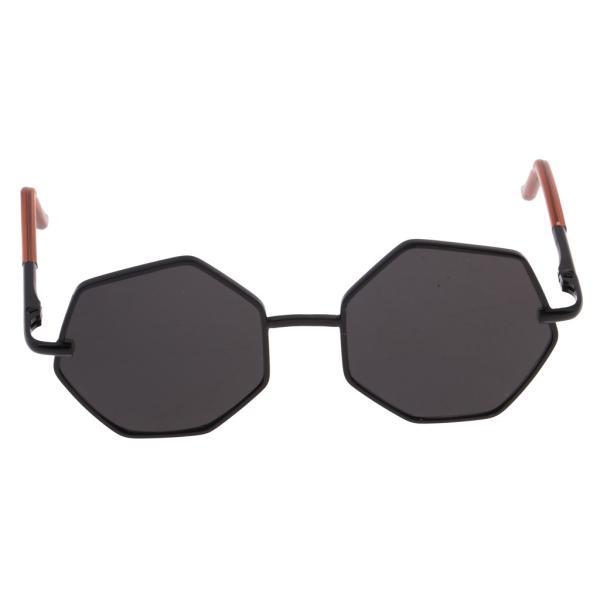 20-25cm BJD SDドール人形のため 六角形眼鏡 サングラス メガネ 人形アクセサリー 7カラー - ブラック