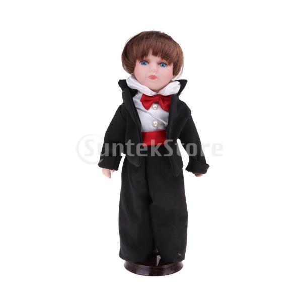 Perfeclan 工芸品 磁器人形 30cmドール ドールハウス装飾 ビクトリア朝ガールドール 8色選ぶ - #3