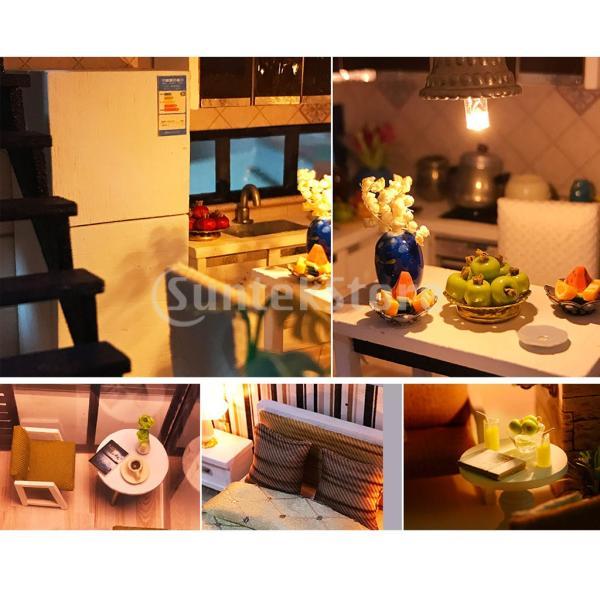 子供 誕生日ギフト 手工芸品 ミニチュア 1/24 フィレンツェの町 DIYドールハウスキット|stk-shop|07