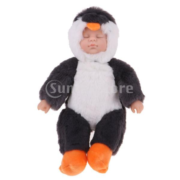 ベビー人形 赤ちゃん 人形 眠っている 新生児人形 ペンギンぬいぐるみ人形