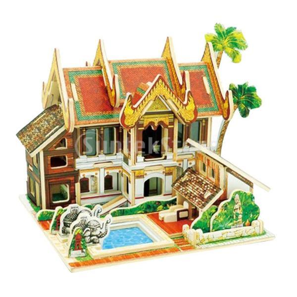 FLAMEER 3Dパズル DIYドールハウス 1:24スケール 組み立て おもちゃ ミニチュア 家具 コレクション 全20カラー - #11