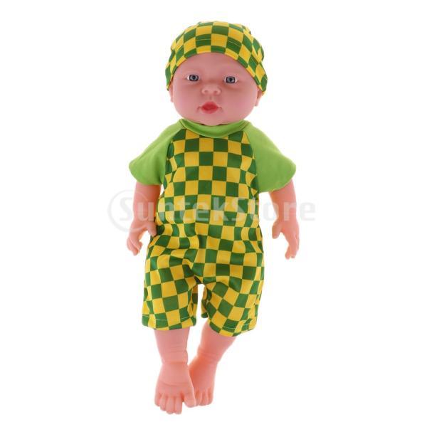 FLAMEER 全2カラー 幼児人形 41cmの赤ちゃん人形 リボーンドール人形 服アクセサリー - 緑