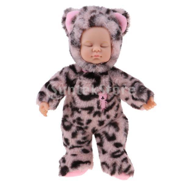 25cmのビニールベビードール 眠っている 赤ちゃん人形 新生児人形 ぬいぐるみ おもちゃ 全9色 - #4