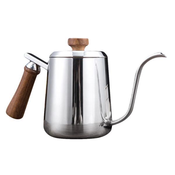 グースネック コーヒー ティー 紅茶 モカ ケトル 沸騰 ドリップポット ステンレス 全2容量選択可能  - #1|stk-shop