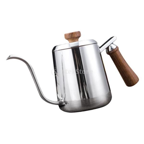 グースネック コーヒー ティー 紅茶 モカ ケトル 沸騰 ドリップポット ステンレス 全2容量選択可能  - #1|stk-shop|04
