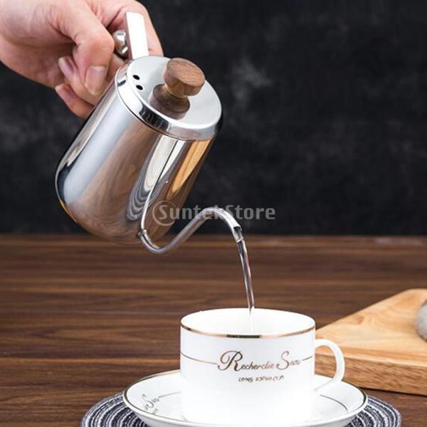 グースネック コーヒー ティー 紅茶 モカ ケトル 沸騰 ドリップポット ステンレス 全2容量選択可能  - #1|stk-shop|06